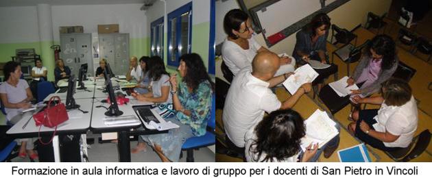 Formazione in aula informatica e lavoro di gruppo per i docenti di San Pietro in Vincoli