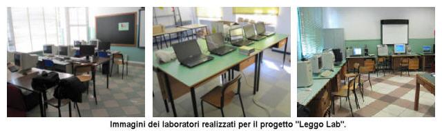 Immagini dei laboratori realizzati per il progetto LeggoLab.
