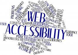 tag cloud che evidenzia le parole web accessibility