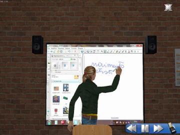 Avatar del docente che svolge la lezione sulla LIM