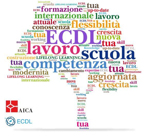 Albero simbolo della Nuova ECDL composto da parole colorate relative alle certificazioni informatiche